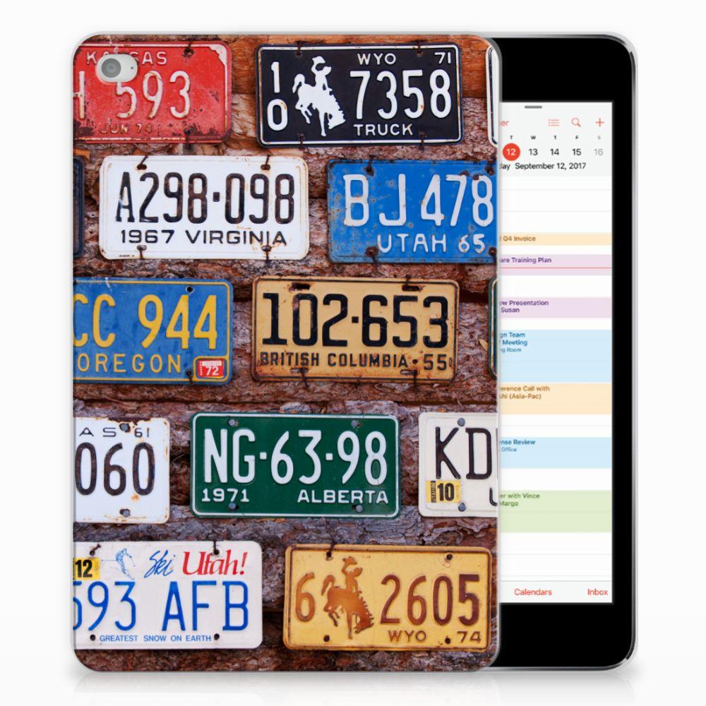 Apple iPad Mini 4 | Mini 5 (2019) Tablet Backcover met foto Kentekenplaten