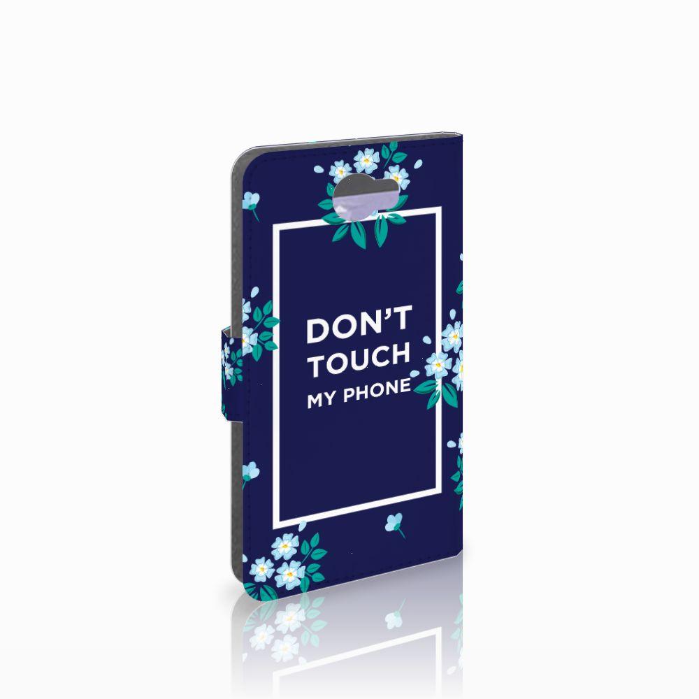 Huawei Y5 2 | Y6 II Compact Boekhoesje Flowers Blue DTMP