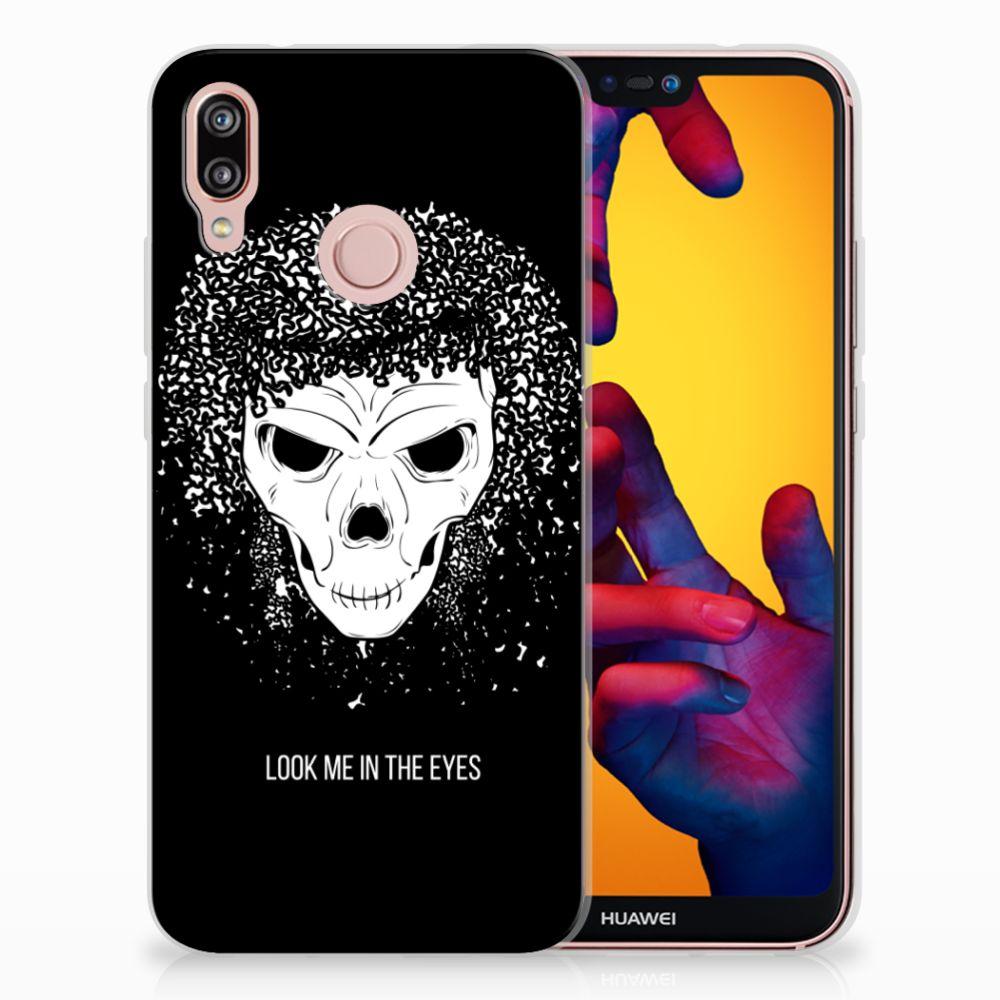 Huawei P20 Lite Uniek TPU Hoesje Skull Hair