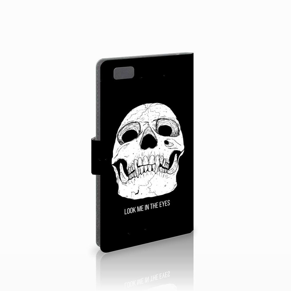 Huawei Ascend P8 Lite Uniek Boekhoesje Skull Eyes