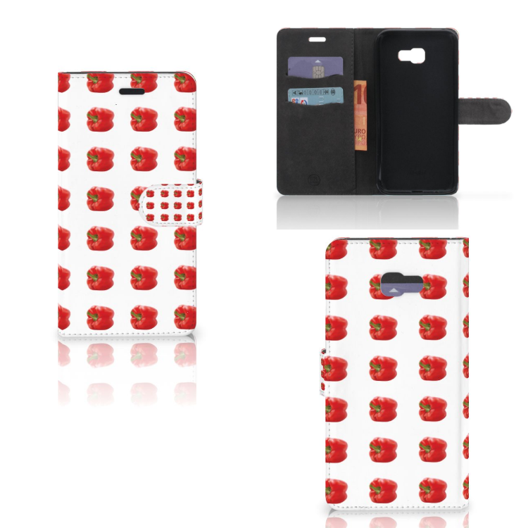 Samsung Galaxy A7 2017 Book Cover Paprika Red