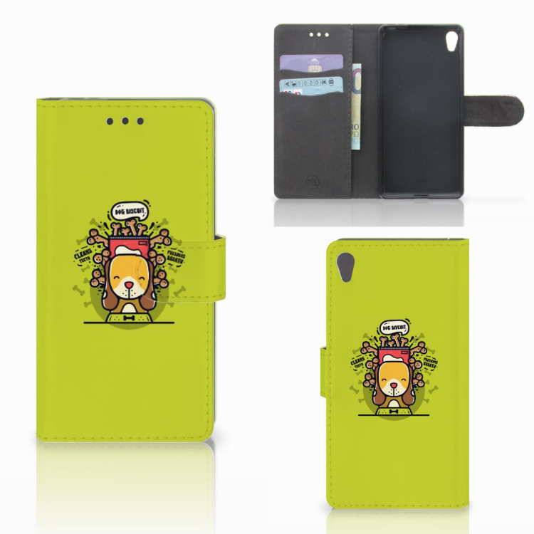 Sony Xperia E5 Leuke Hoesje Doggy Biscuit