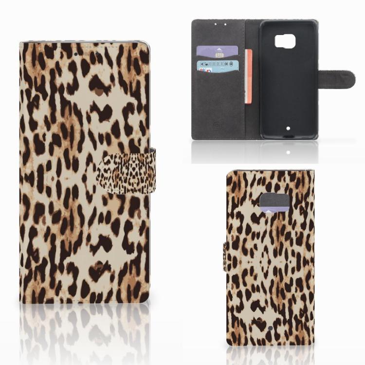 HTC U Ultra Telefoonhoesje met Pasjes Leopard