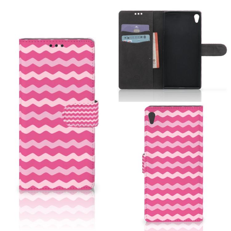 Sony Xperia XA Ultra Telefoon Hoesje Waves Pink