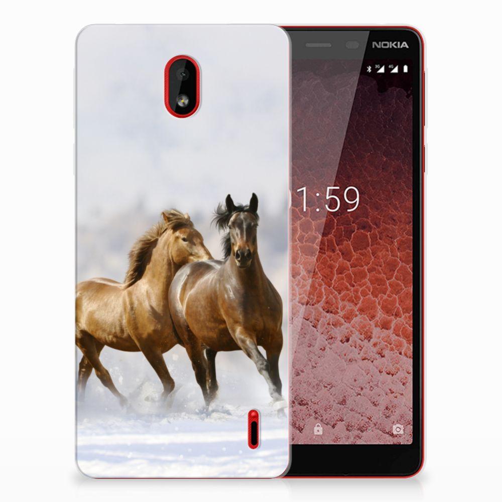 Nokia 1 Plus TPU Hoesje Paarden