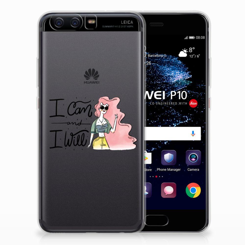 Huawei P10 Telefoonhoesje met Naam i Can