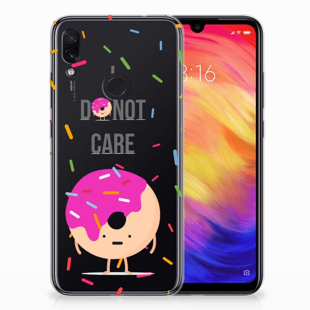 Xiaomi Redmi Note 7 Siliconen Case Donut Roze