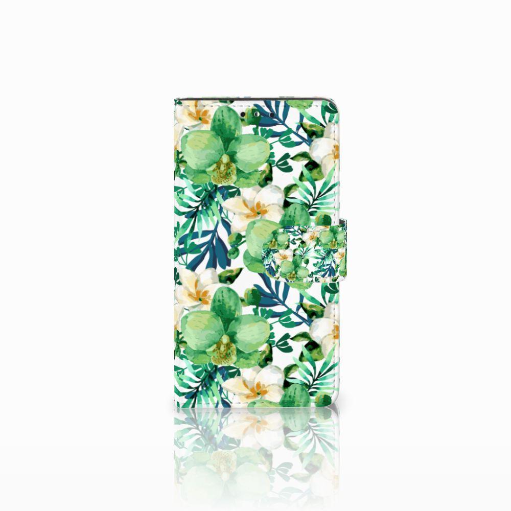 Huawei Y5 | Y6 2017 Uniek Boekhoesje Orchidee Groen