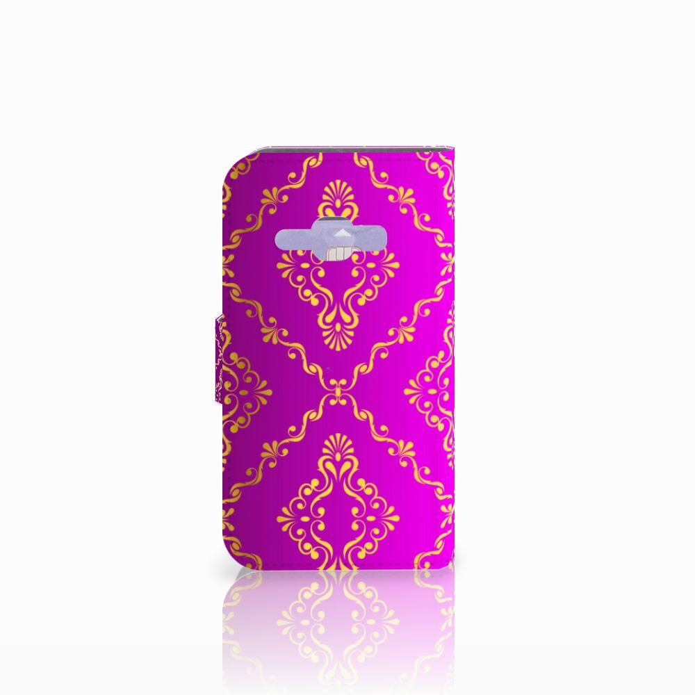 Wallet Case Samsung Galaxy J1 2016 Barok Roze