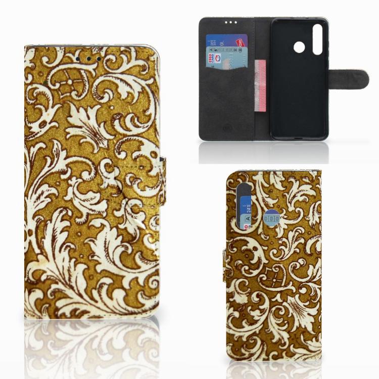Wallet Case Huawei Nova 4 Barok Goud