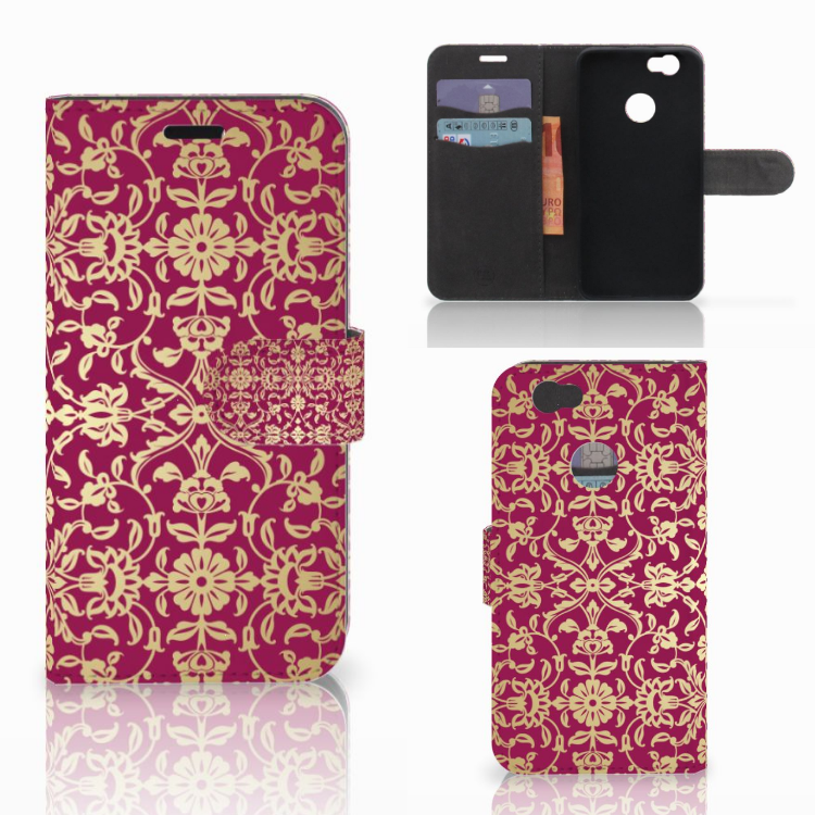 Wallet Case Huawei Nova Barok Pink