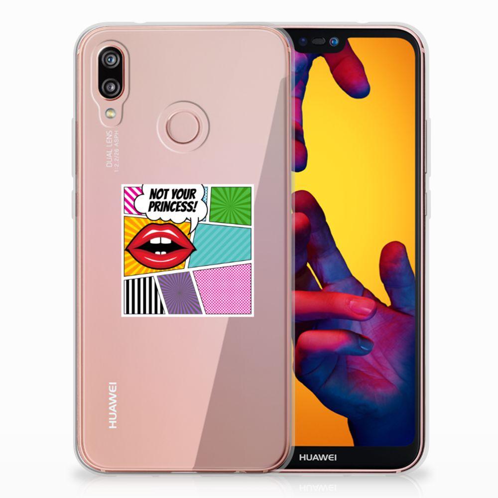 Huawei P20 Lite Uniek TPU Hoesje Popart Princess