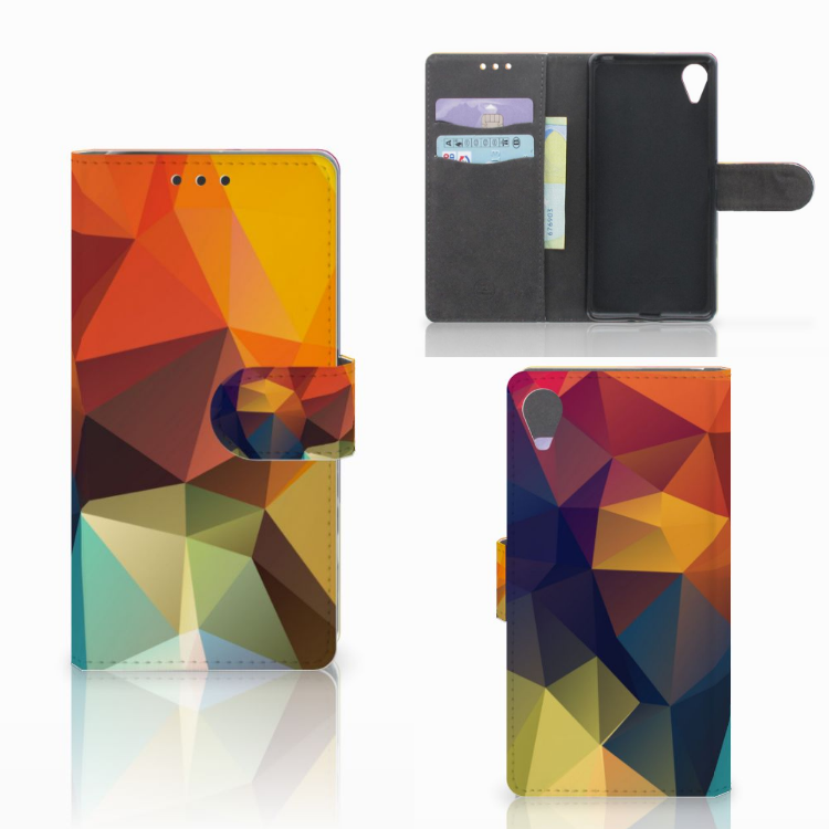 Sony Xperia X Performance Bookcase Polygon Color