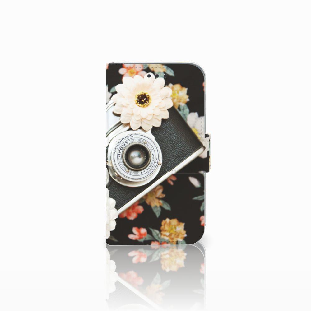Samsung Galaxy Core Prime Uniek Boekhoesje Vintage Camera