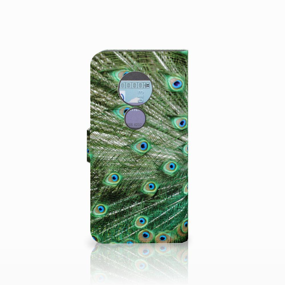 Motorola Moto G6 Play Telefoonhoesje met Pasjes Pauw