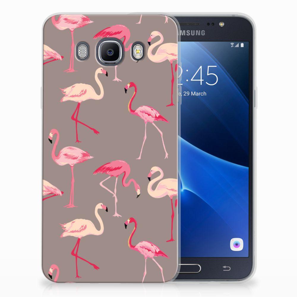 Samsung Galaxy J7 2016 Uniek TPU Hoesje Flamingo