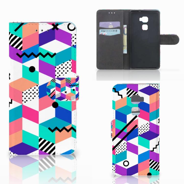 Huawei Mate S Bookcase Blokken Kleurrijk