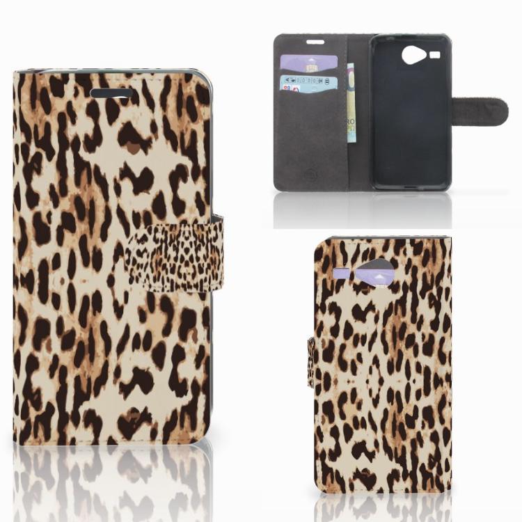 Acer Liquid Z520 Telefoonhoesje met Pasjes Leopard