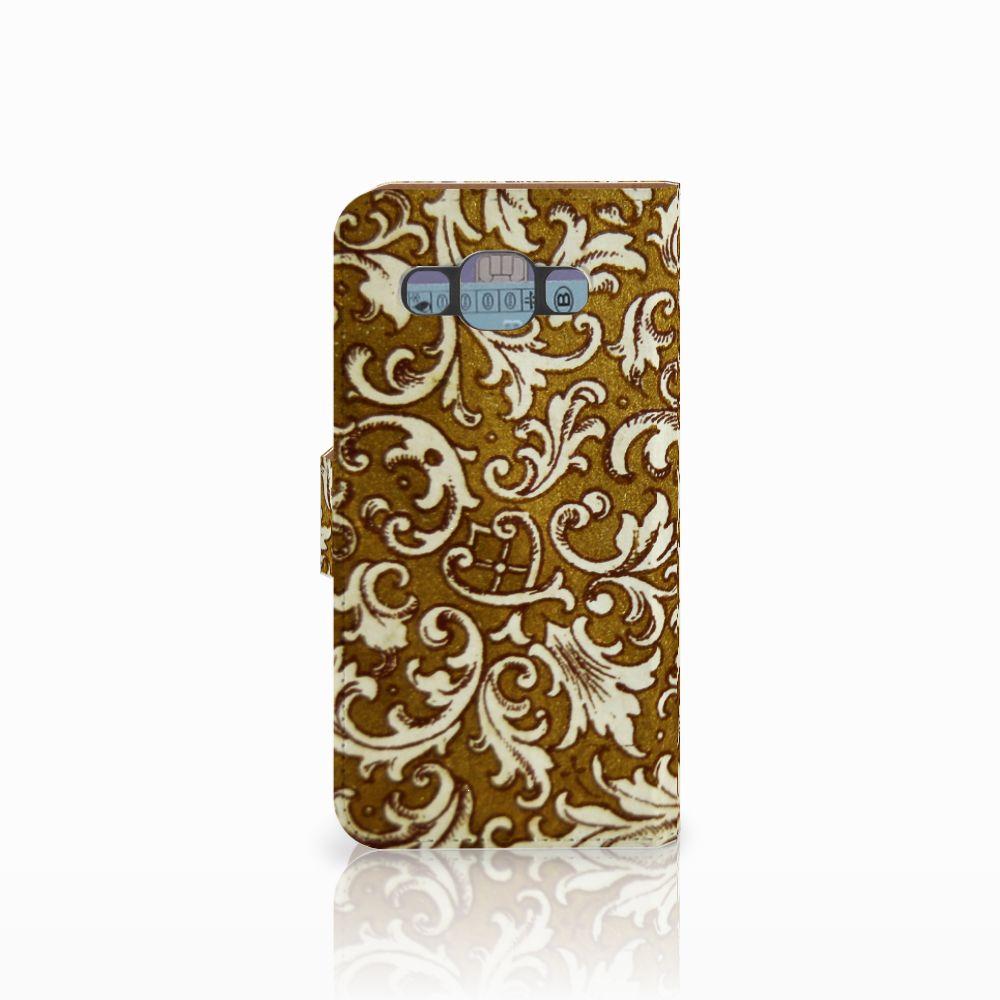 Wallet Case Samsung Galaxy E5 Barok Goud