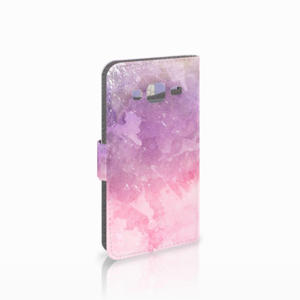Samsung Galaxy J3 2016 Boekhoesje Design Pink Purple Paint