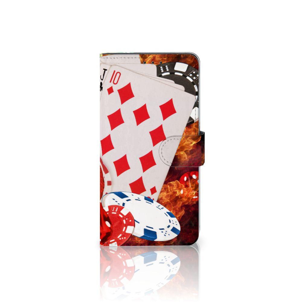 Samsung Galaxy A8 Plus (2018) Uniek Boekhoesje Casino
