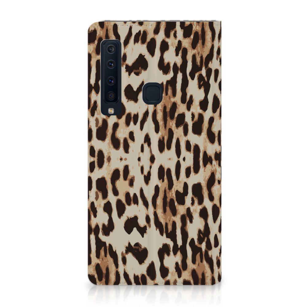 Samsung Galaxy A9 (2018) Uniek Standcase Hoesje Leopard