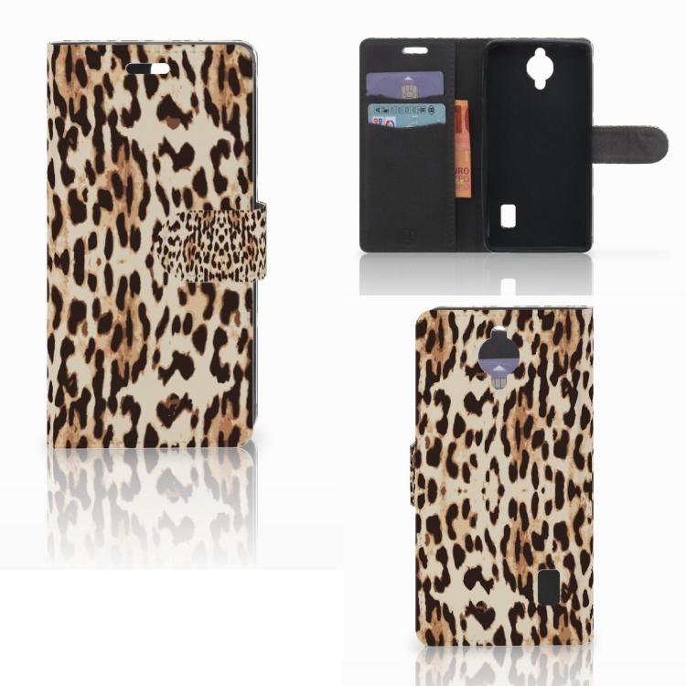 Huawei Y635 Telefoonhoesje met Pasjes Leopard