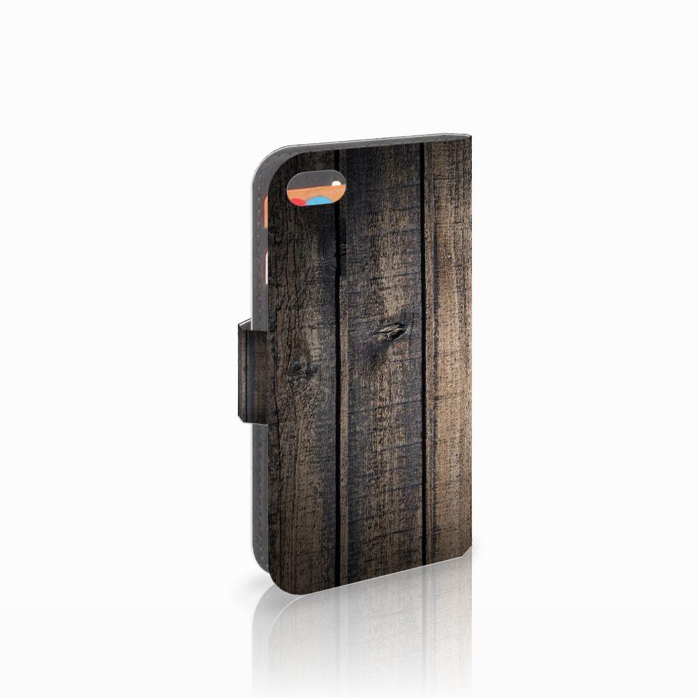 Apple iPhone 5C Boekhoesje Design Steigerhout