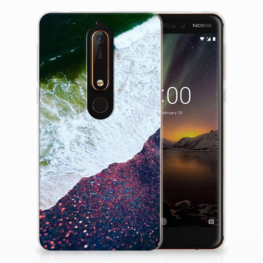 Nokia 6 (2018) TPU Hoesje Sea in Space