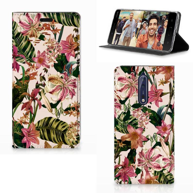 Nokia 8 Smart Cover Flowers