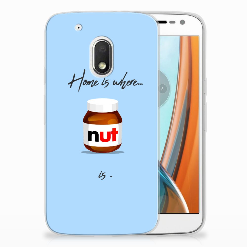 Motorola Moto G4 Play Siliconen Case Nut Home