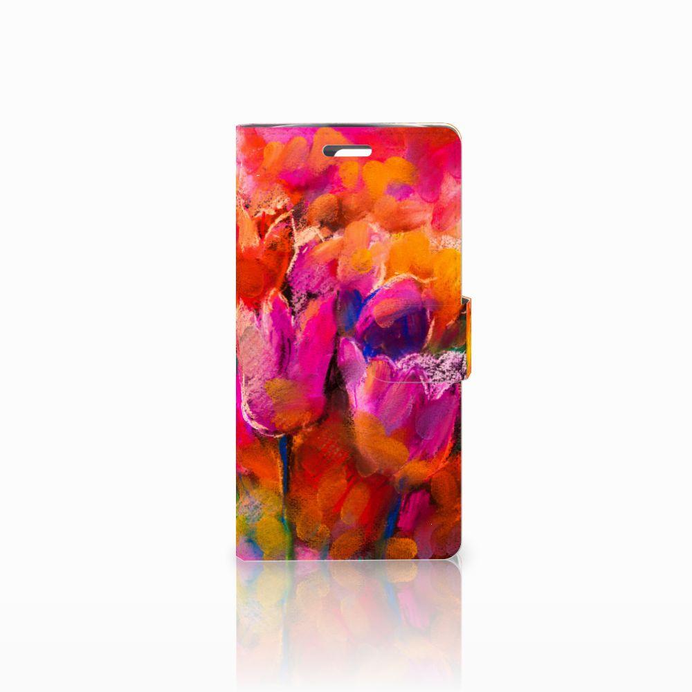 LG K10 2015 Boekhoesje Design Tulips