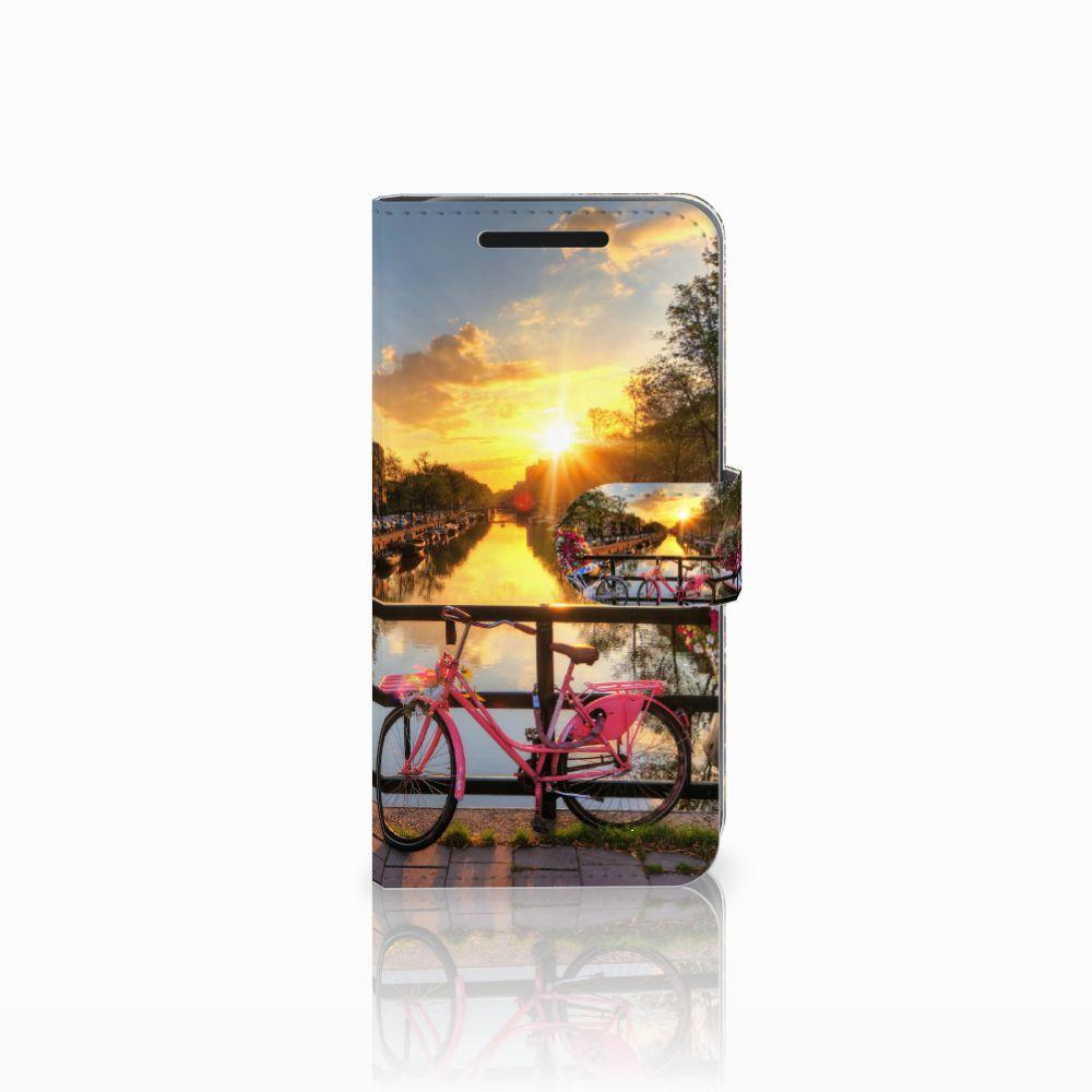 HTC One M9 Uniek Boekhoesje Amsterdamse Grachten