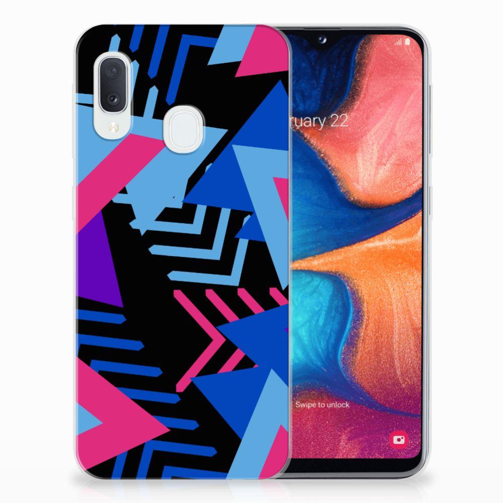 Samsung Galaxy A20e TPU Hoesje Funky Triangle