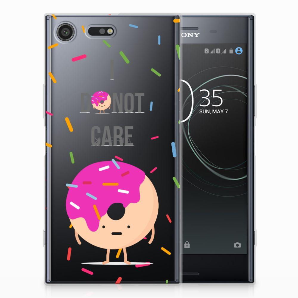 Sony Xperia XZ Premium Siliconen Case Donut Roze