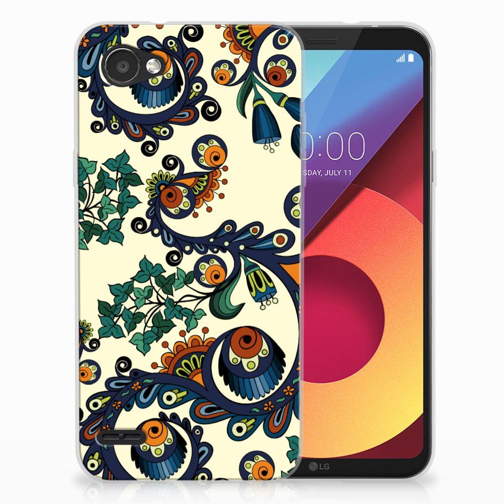 Siliconen Hoesje LG Q6 | LG Q6 Plus Barok Flower