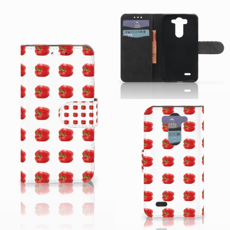 LG G3 S Book Cover Paprika Red