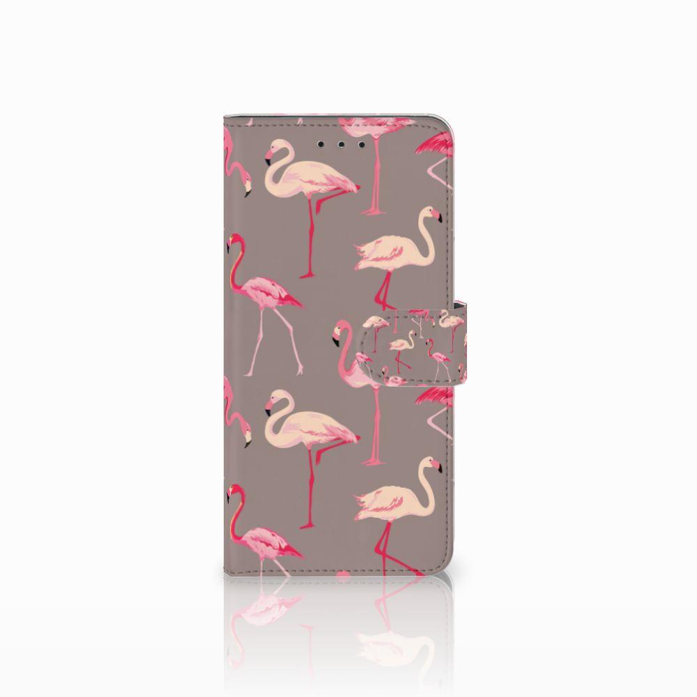 Motorola Moto E5 Plus Uniek Boekhoesje Flamingo
