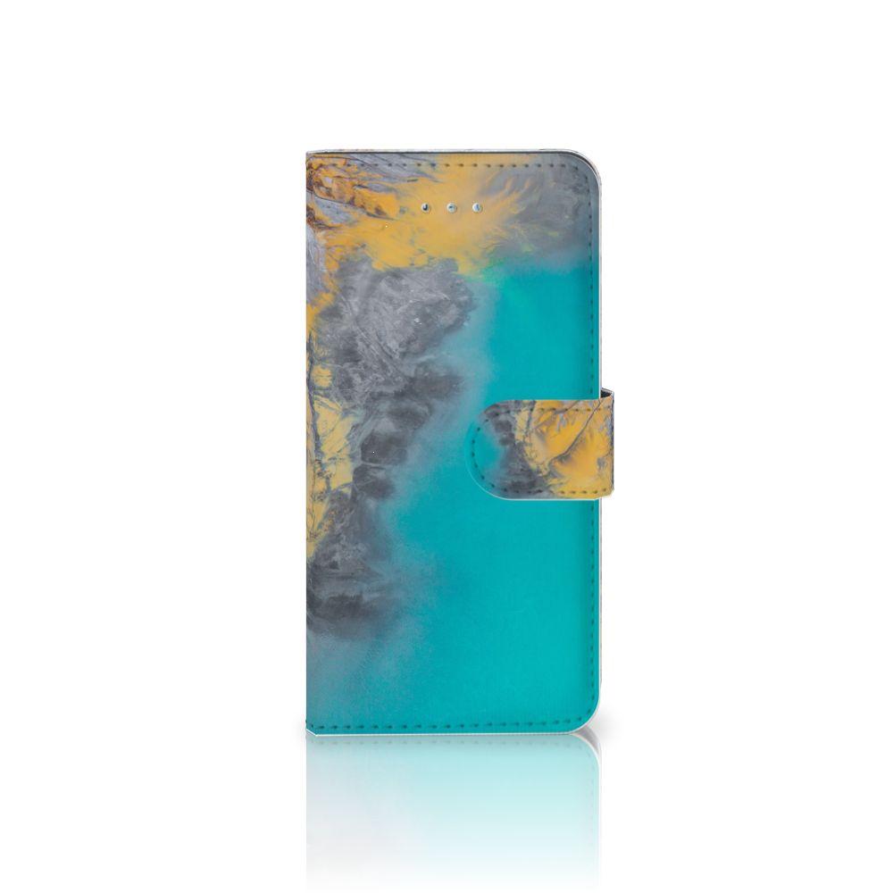 Honor 4A | Y6 Boekhoesje Design Marble Blue Gold