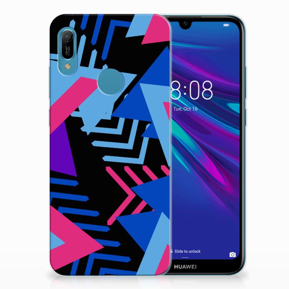 Huawei Y6 2019 | Y6 Pro 2019 TPU Hoesje Funky Triangle