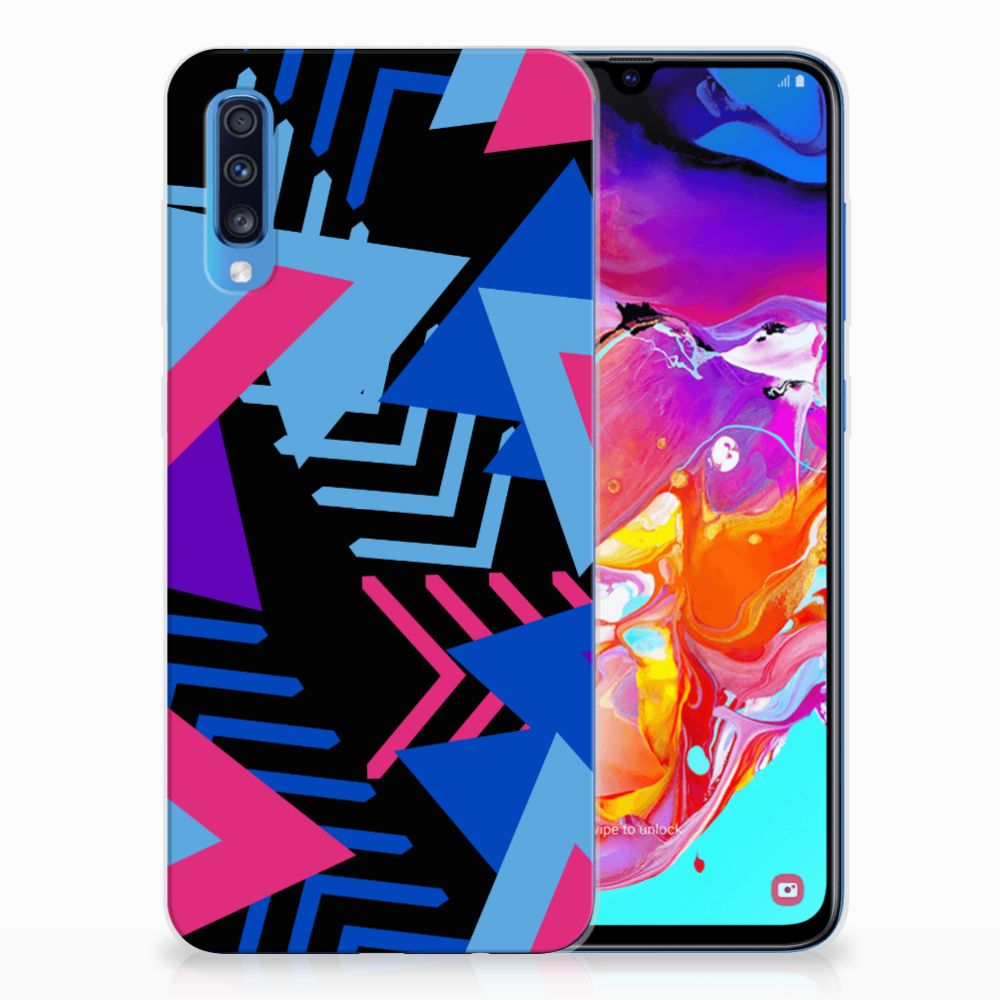 Samsung Galaxy A70 TPU Hoesje Funky Triangle