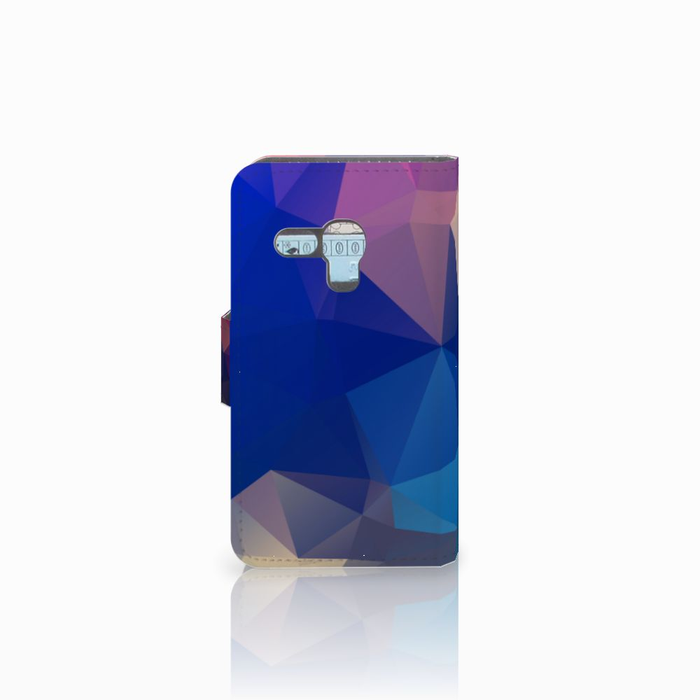 Samsung Galaxy S3 Mini Bookcase Polygon Dark