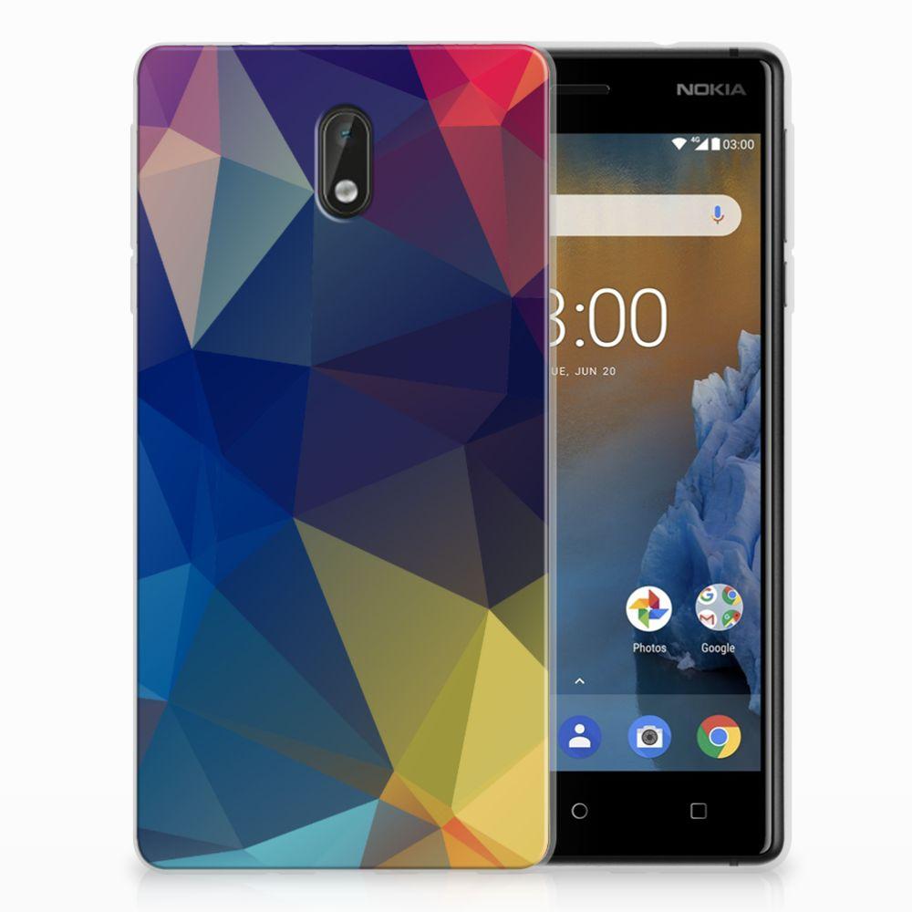 Nokia 3 Uniek TPU Hoesje Polygon Dark