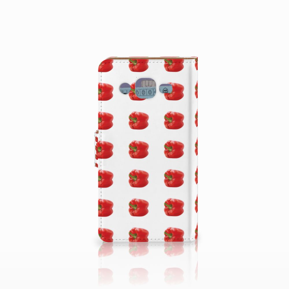 Samsung Galaxy J2 (2015) Book Cover Paprika Red
