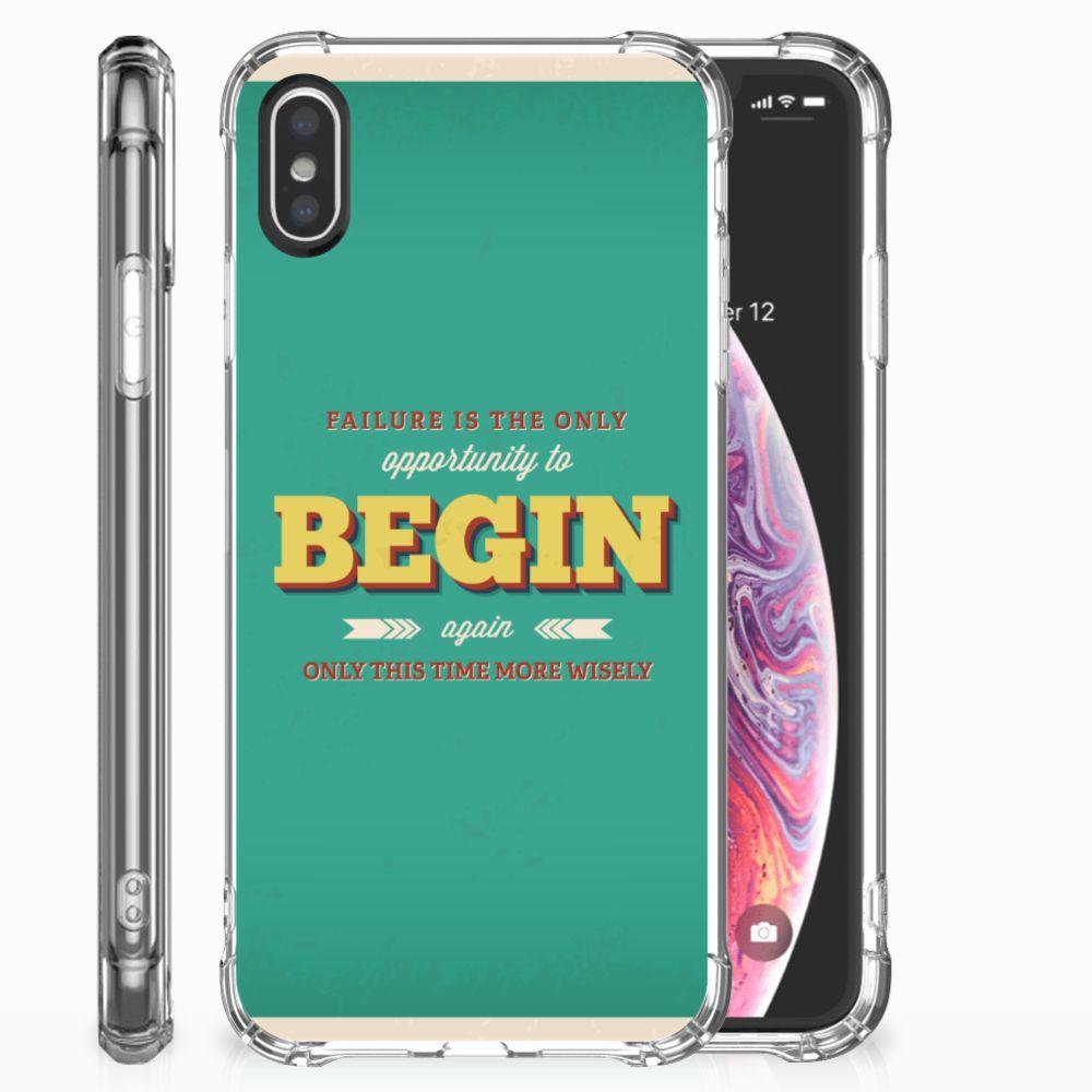 Apple iPhone X | Xs Telefoonhoesje met tekst Quote Begin