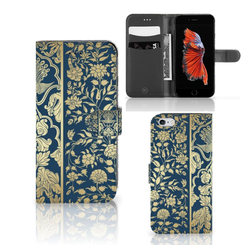 Apple iPhone 6 Plus | 6s Plus Hoesje Golden Flowers