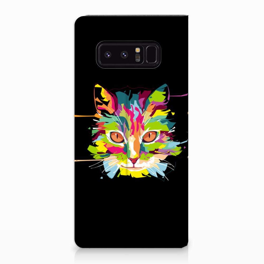 Samsung Galaxy Note 8 Uniek Standcase Hoesje Cat Color