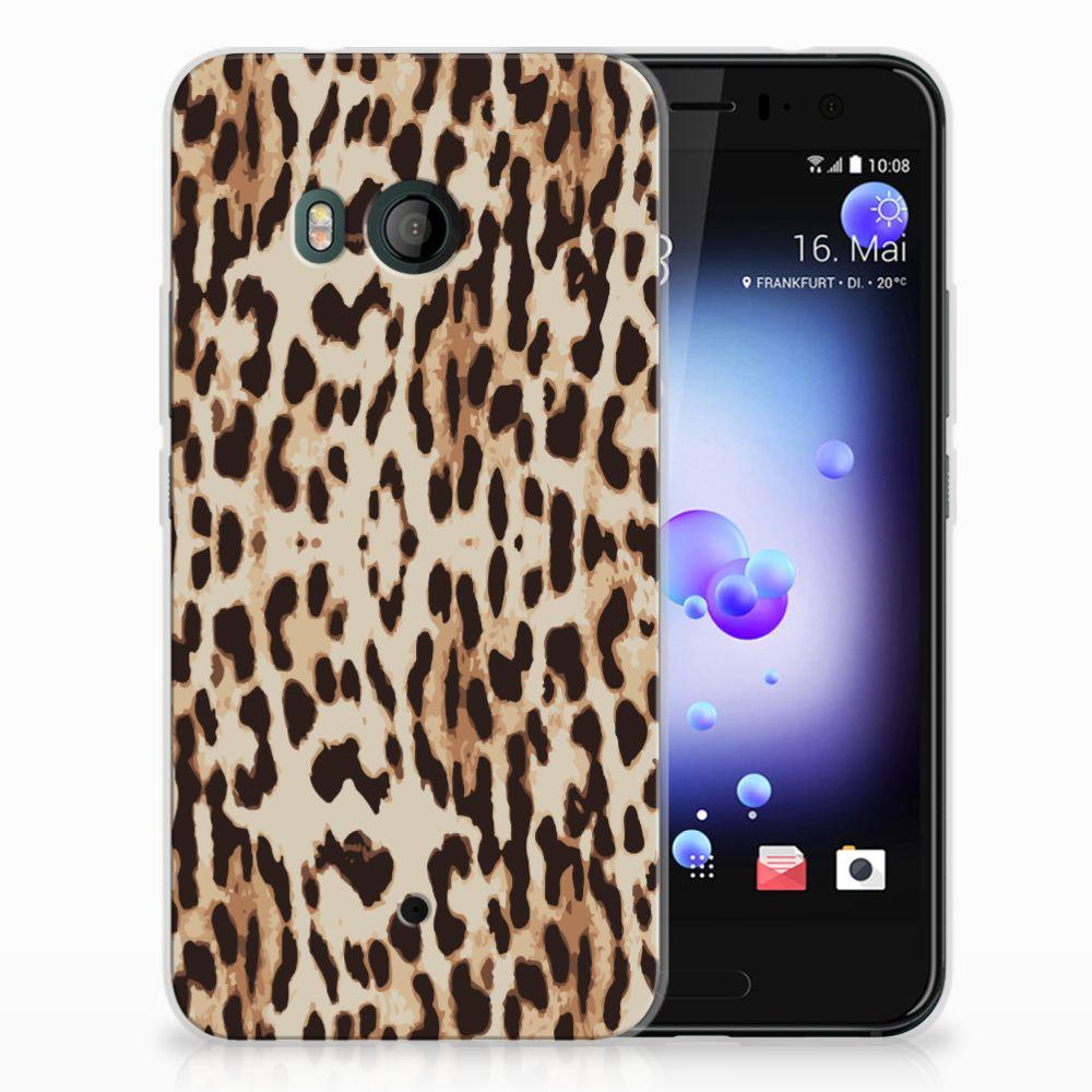 HTC U11 Uniek TPU Hoesje Leopard