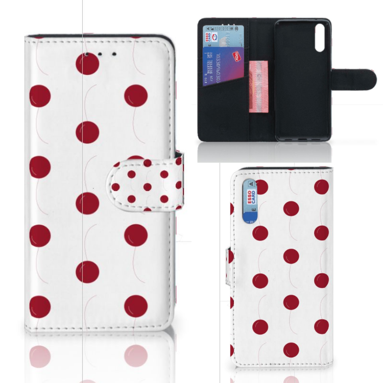 Huawei P20 Book Cover Cherries