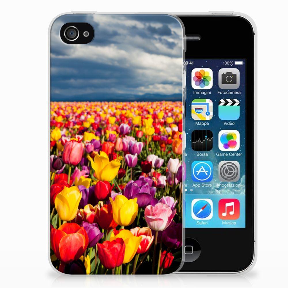 Apple iPhone 4 | 4s Uniek TPU Hoesje Tulpen
